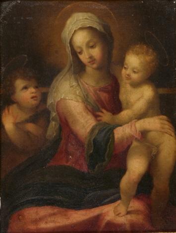 madonna mit kind und johannesknaben by bartolomeo schedoni