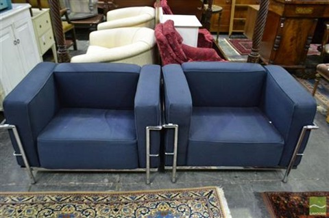 Pair Of Le Corbusier Chairs By Le Corbusier