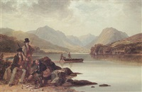 fisherman, loch awe by thomas christopher hofland