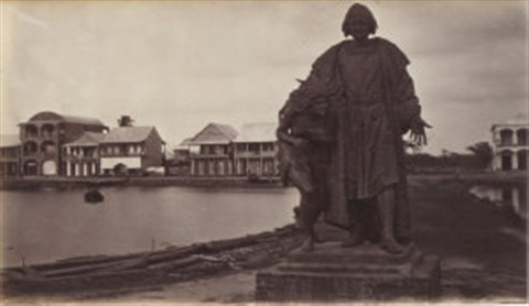 statue to columbus aspinwall by eadweard muybridge