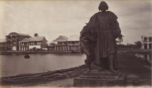 statue to columbus aspinwall by eadweard muybridge