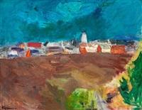 view over gudhjem, bornholm by niels lergaard