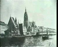 ansicht von frankfurt mit dom by helmut fischer