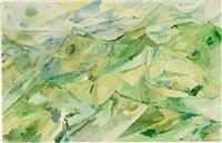 mountain landscape by else alfelt