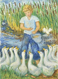little goose girl by waldo peirce