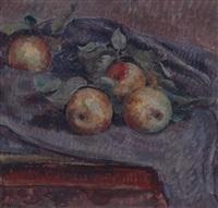 stillleben mit äpfeln by hermann huber