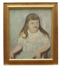 porträtt av ung flicka by hilding linnqvist