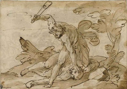 cain and abel the conversion of saul lrgr verso by giovanni battista paggi