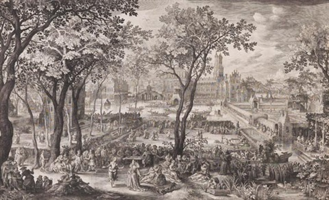 ländliches fest after david vinckboons by nicolaes de bruyn