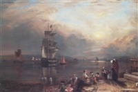 the clyde from greenock toward dumbarton by john fleming