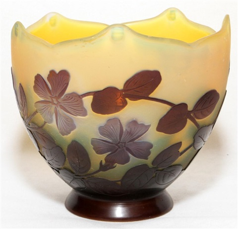 galle cameo glass bowl h 5 w 5 12