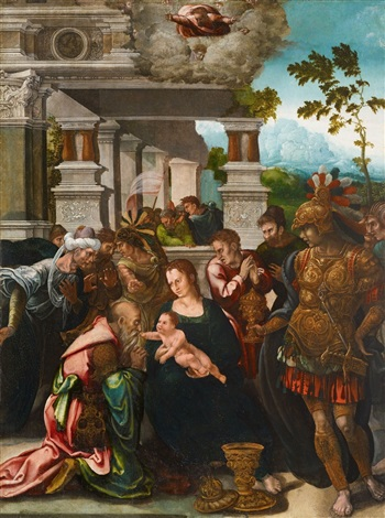 adoration of the magi by jan swart van groningen
