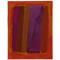 abstraction in orange and purple (+ abstraction; 2 works) by rex ashlock