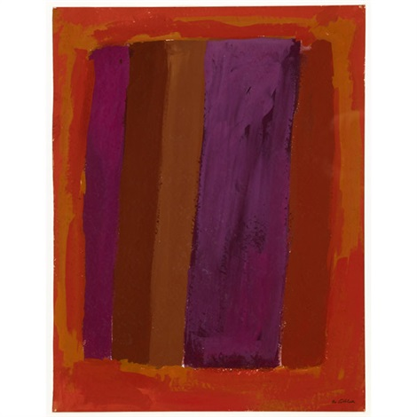 abstraction in orange and purple abstraction 2 works by rex ashlock