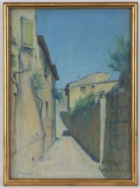 ruelle de village by achille laugé