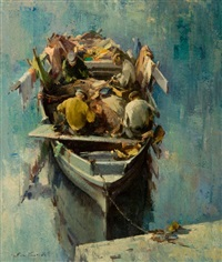 pescatori al lavoro by giulio da vicchio