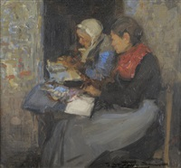 breton lace makers by mark senior