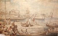 the quay, blackwall docks by thomas rowlandson
