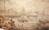 the quay, blackwall docks by thomas rowlandson