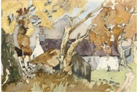 an autumn day, portincaple, scotland by violet mcneish kay
