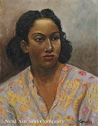 portrait of patricia arceneaux by miriam alice gerstle wornum