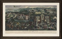 the embarkation of king henry viii at dover, may 31st 1520 (+ 2 others; 3 works) by james basire the elder