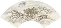 farewell in hanjiang/landscape after ni zan/autumn landscape in moonlight by lian xi
