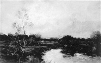 landscape with stream by joseph de camp