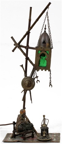 figural lamp by franz bergman