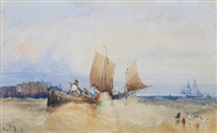shipping off coast by william henry stopford