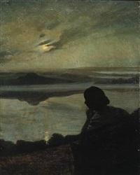 måneskin over bagsværd sø by niels vinding dorph