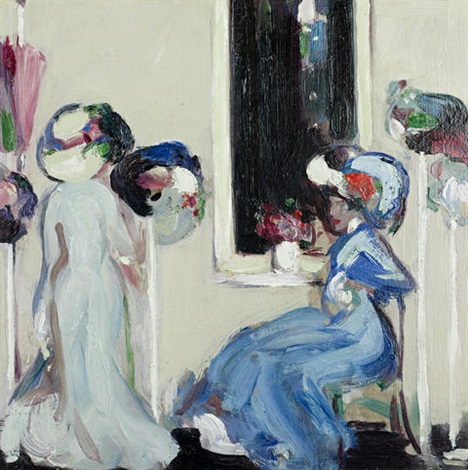 at the milliners paris by john duncan fergusson