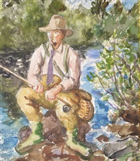 the fly fisherman by waldo peirce