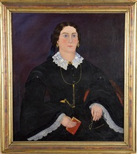 portrait of a woman (mrs. gillings) by john james trumbull arnold