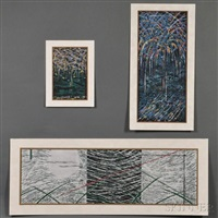 cloudy snow; night sky no. 1; night scene (3 works) by yuichi hasegawa