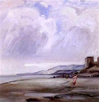figures at the shore by leon dabo