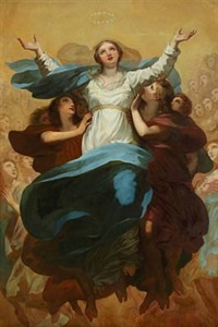 the assumption of the virgin (after pierre prud'hon) by léontine lemee