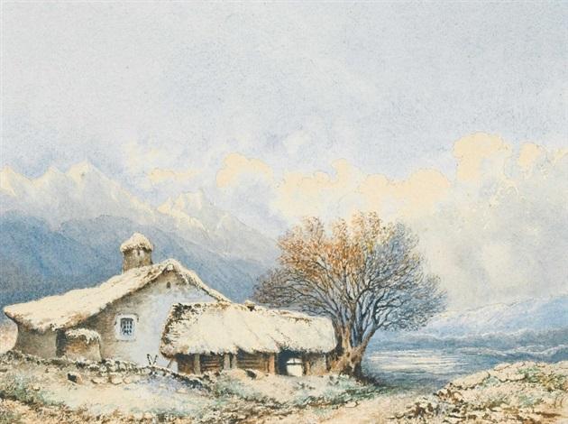 bauernhaus im gebirge by alexandre calame