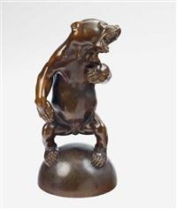 figure of a dancing bear by franz barwig the elder