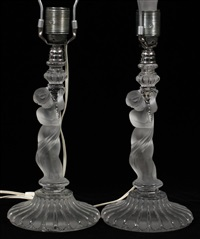 figural lamps (pair) by baccarat