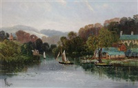 yachts on the water by robert weir allen