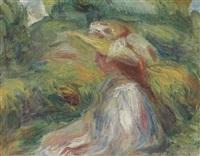 etude de femme au chapeau by pierre-auguste renoir