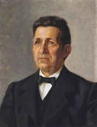 portrait of bank director jens winther by helga ancher