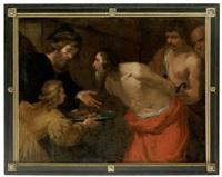 der hl. johannes der täufer wird zu seinem märtyrertod geführt by orazio ferraro