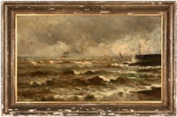 rough seas on the north sea by conrad hans selmyhr