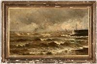 rough seas on the north sea by conrad hans selmyhr