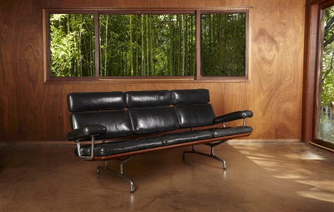 Teak And Leather Sofa By Charles And Ray Eames