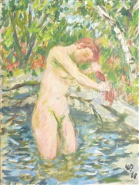 washing hair by waldo peirce