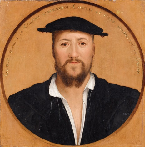 bildnis george brooke neunter baron cobham by hans holbein the younger
