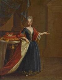 kurfürstin maria antonia von bayern, erzherzogin von österreich by pieter jacob horemans